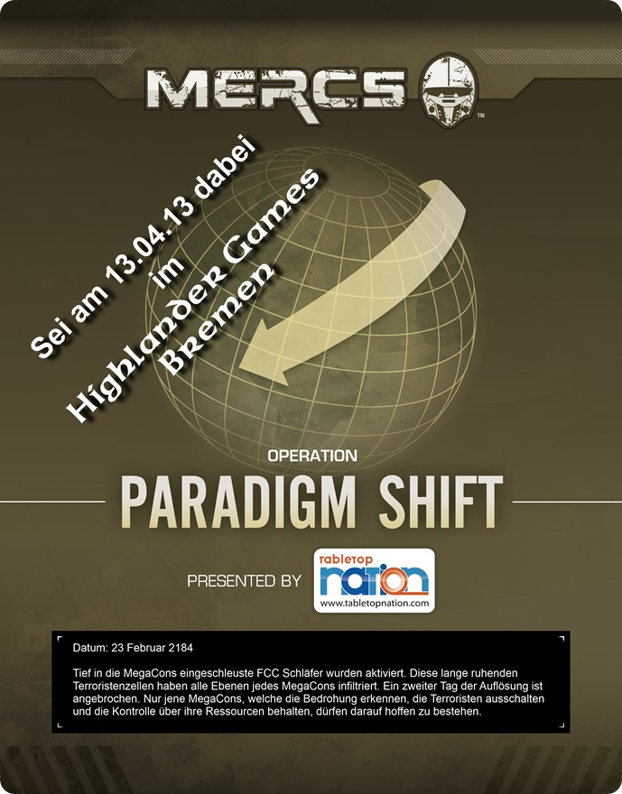 MERCS Operation Paradigm Shift Event