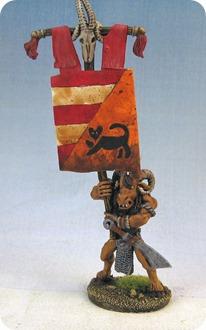 Tiermensch Bannertraeger auf den Spieletage Bremen