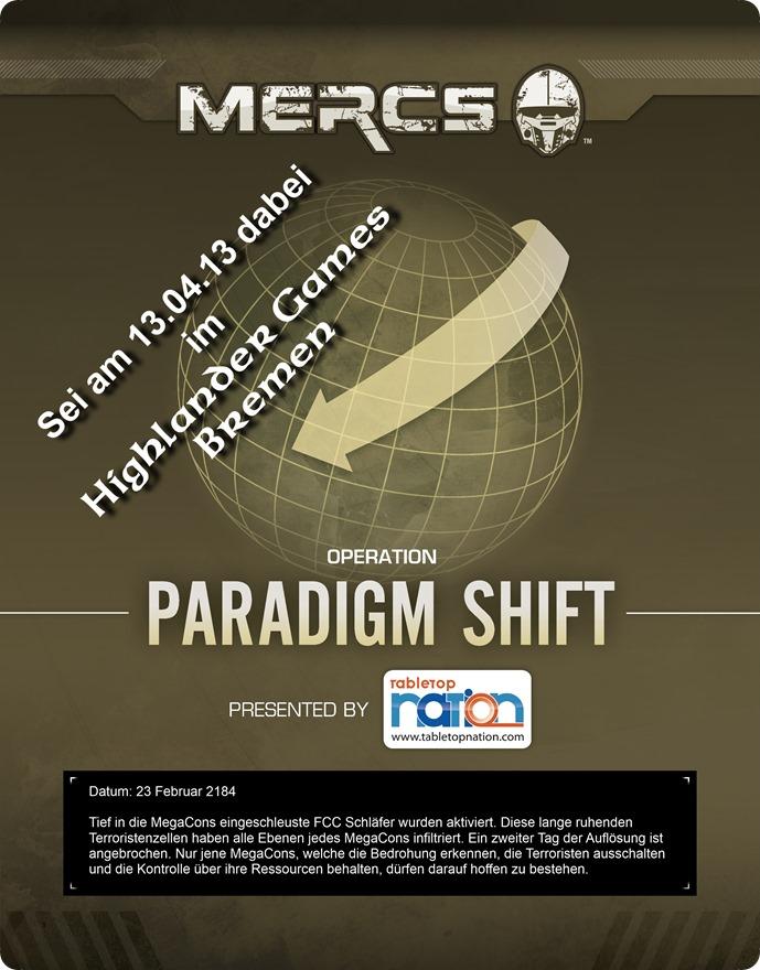 MERCS Operation Paradigm Shift Event